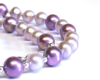 AAA Grade Dusty Pink Freshwater Pearl  Necklace