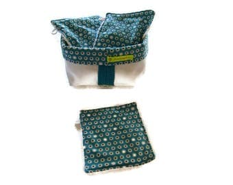 bimaterial and 3 large wipes storage basket