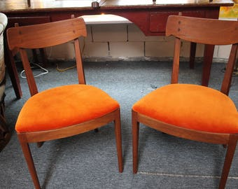 Pair Kipp Stewart For Drexel Dining Chairs