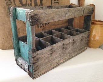 Old wood from the 1930's french bottle holder.
