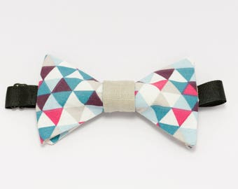 """Pink and blue bow tie graphic """"Wave desire"""""""