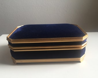 blue and gold jewelry music box
