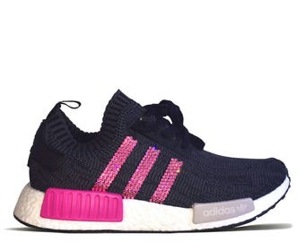 Adidas NMD R1 with Pink Swarovski Crystals