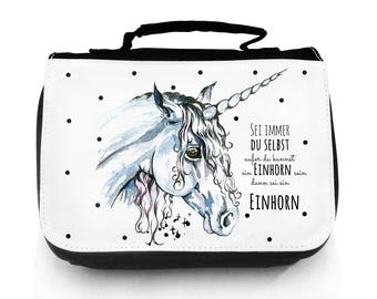 Cosmetic Beauty Toilet Bag Case Unicorn with Adage WT071