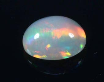 Amazing Natural Ethiopian Welo Fire Opal Gemstone Cabochan With Beautiful colour Oval Shape 1.70 Cts. Size 10 X 8 X 5 MGJ 214
