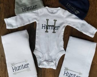 Personalized Newborn Baby Boy  Set