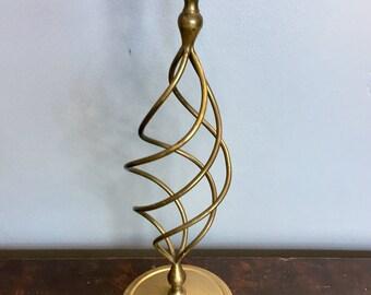 Unique Vintage Brass Candle Holder