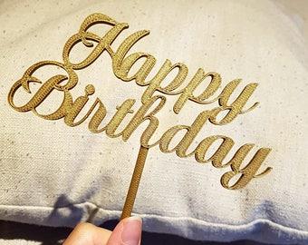 Happy Birthday Topper - Fancy