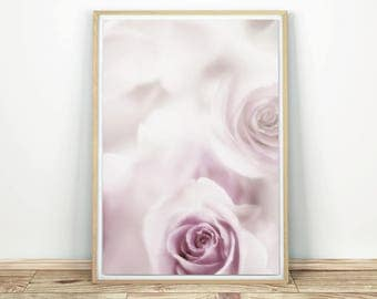 Pale Pink Rose - Printable Art, Rose Abstract Print, Rose Print Art, Abstract Art, Pink Rose Art, Abstract Flower, Rose Poster, Floral Art