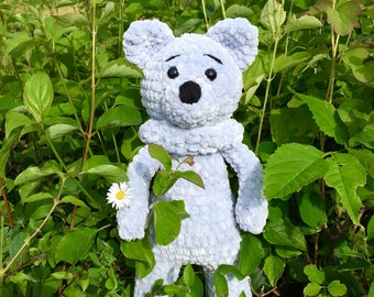 Crochet amigurumi Teddy bear, plush doll