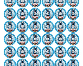 48 X Thomas the Train  Edible Cake Decorations Cupcake Toppers Premium Wafer Paper Card#2