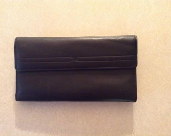 Buxton Large Black Leather Wallet