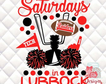 Saturdays in Lubbock - Texas Tech -  Tailgating, Gameday - SVG, Silhouette studio bundle - design download