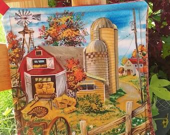 Farm Scene Pot Holder