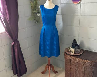 1950's Brocade Satin Dress