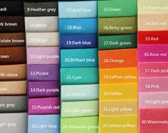 choose color yourself 20pcs/lot 1mm 30*30cm felt fabric for diy handmade craft not woven cloth