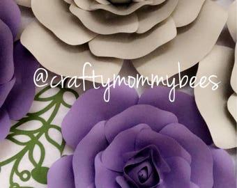 6 pc Paper Flower Set | Roses