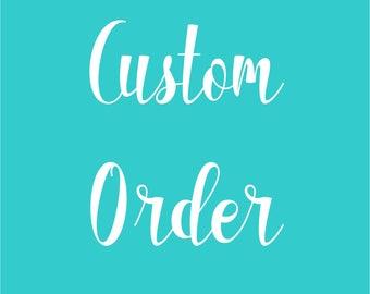Custom Onesie Order