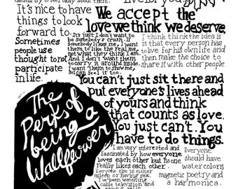 Perks of Being a Wallflower Text Print