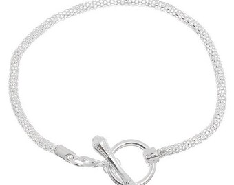 European snake toggle clasp bracelets