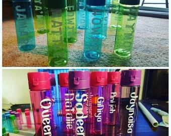 Name water bottle - Set of 20