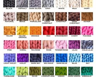 Merino Yarn - Handspun Merino - Super Bulky Yarn - Chunky Wool - Merino Wool Yarn - Super Chunky Yarn - Handspun Yarn - Handspun Wool