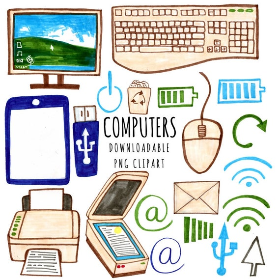 technology clipart computer clip graphic working