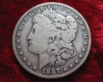 1887-O Morgan Silver Dollar, BETTER GRADE ORIGINAL Coin!