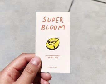 Super Bloom California Poppy Enamel Pin