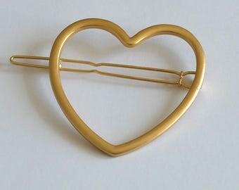 Heart hair clip*Hair Clip*Hair Barrette*Hair Pin*Metal Clip*Hair Accessory