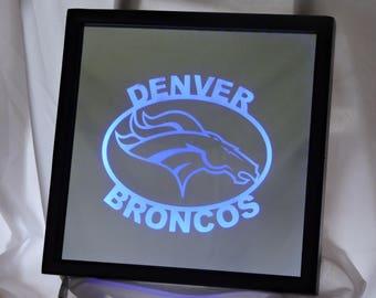 Denver Broncos LED Remote Controlled Mirror