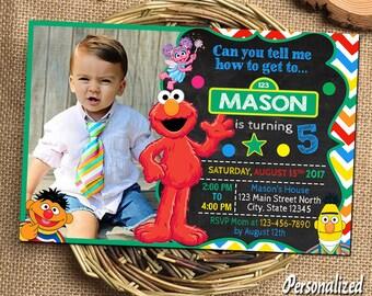 Sesame Street Invitation Sesame Street Birthday Sesame Street Birthday Invitations Sesame Street Printable Elmo Invitations Elmo Birthday