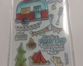 Stampendous Campground Clear Acrylic Camping Stamp Set SSC1253 NEW