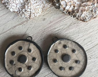 Set of 2 ceramic pendants