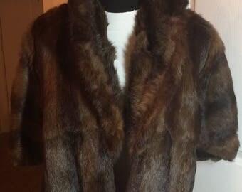 Vintage mink car coat