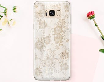Clear Flowers to Samsung Galaxy S8 case to Samsung S8 Plus case to Samsung Galaxy S7 edge case to Samsung 7 edge case Galaxy S6 Cover CA_025