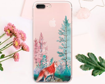 SE iPhone Fox 7 phone case iPhone case 7 Plus iPhone 6 case 6s iPhone case tropical clear case 6s Plus iPhone case 6 Plus case iphone CA_017