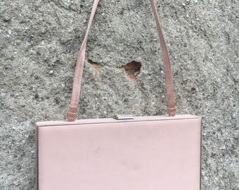 CLUTHC Rigid silk satin bag in pink powder 80 signed Armani Collezioni