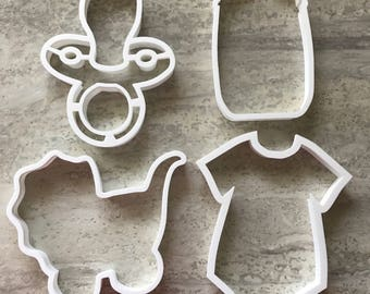Baby Shower Cookie Cutters - Set of 4