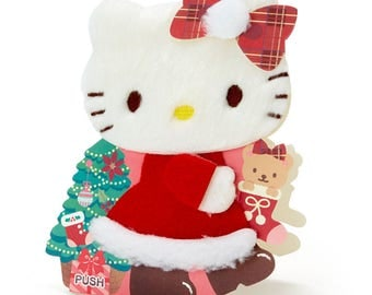 Hello Kitty Christmas lights and voice card (fluffy kitty) SANRIO from Japan kawaii
