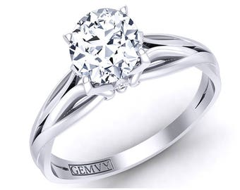 Solitaire Diamond Engagement Ring 1198