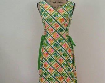 1970's Floral Maxi Dress