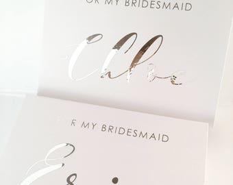 Medium Personalised gift Box - Groomsman, Best Man, Bridesmaids, Bride, Groom Gift Box