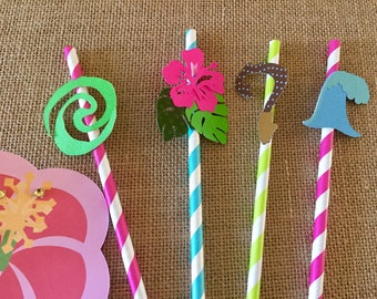 Moana Straws, Moana party decorations, Moana Birthday Party, Moana topper
