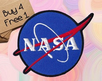 Nasa Patches Space Patches Iron On Patch Embroidered Patch Sew On Patch Custom Patches