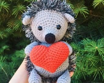 Crochet hedgehog/Amigurumi hedgehog/Amigurumi animals/Plush hedgehog/Stuffed hedgehog/Nursery decor/Gift for baby/Hedgehog toy/Plush toy