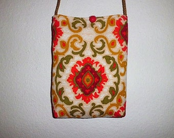 Small shoulder bag ~ 70's fabric