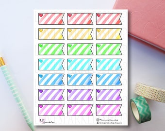 Multicolored Striped Flags