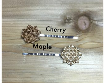 Wood Mandala Hair Pin