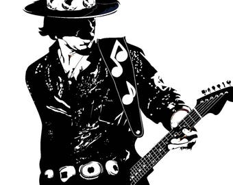 Stevie Ray Vaughan  Modern Painting artwork hand-painted ( tswo size available )